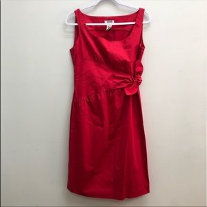 Moschino Cheap and Chic Red Tie Waist Sheath Dress